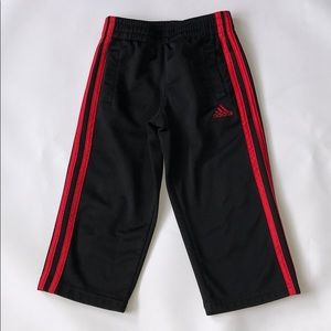 Adidas Boys Black and Red Track Pants size 3T